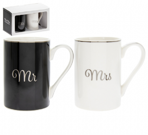 MR & MRS SET OF 2 MUGS